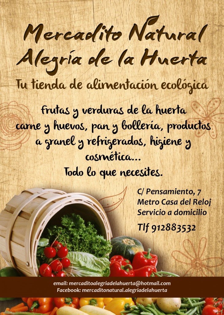 cartel mercadito natural